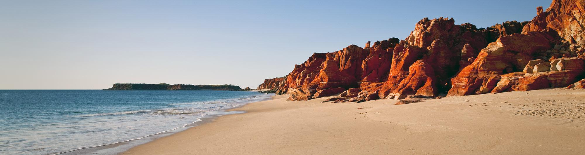 An Australian beach and coastal landscape.